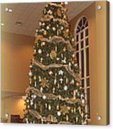 Church Christmas Tree Acrylic Print