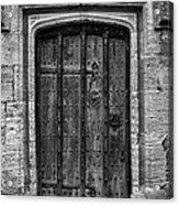 Church Door Bw Acrylic Print