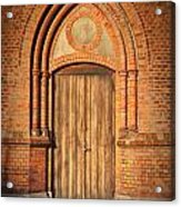 Church Door Helsingborg Acrylic Print by Antony McAulay