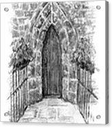 English Church Door Acrylic Print