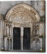 Church Entrance - St  Thibault Acrylic Print