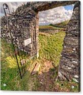 Church Gate Acrylic Print by Adrian Evans