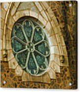 Church Glass Acrylic Print