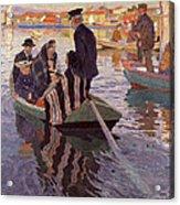 Church-goers In A Boat Acrylic Print