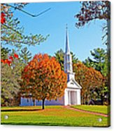 Church In Autumn Acrylic Print