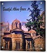 Church In Beautiful Athens Acrylic Print