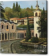 Church In Blagoevgrad Acrylic Print by Kiril Stanchev