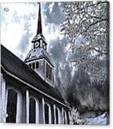 Church In Kuusamo Finland Acrylic Print