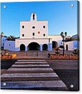 Church In Sant Josep Town On Ibiza Island Acrylic Print