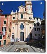 church in Sori. Italy Acrylic Print