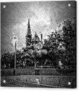 Church In The Rain Acrylic Print