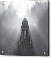 Church In The Storm Acrylic Print