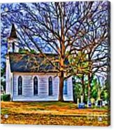 Church In The Wildwood - Paint Acrylic Print