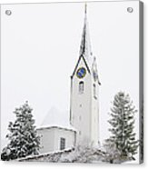 Church In Winter Acrylic Print