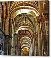 Church Interior Dordogne Region France Acrylic Print