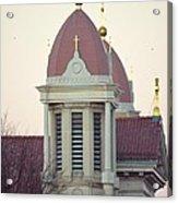 Church Of Gold Crosses Acrylic Print