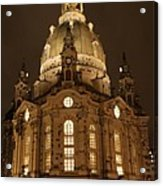 Church Of Our Lady At Night  -  Dresden - Germany Acrylic Print