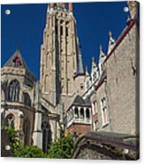 Church Of Our Lady In Bruges Acrylic Print