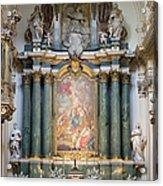 Church Of Santa Barbara Interior In Madrid Acrylic Print