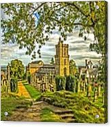 Church Of The Holy Rude Cemetery Stirling Acrylic Print