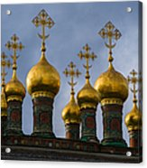 Church Of The Nativity Of Moscow Kremlin - Square Acrylic Print