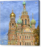 Church Of The Saviour On Spilled Blood. St. Petersburg. Russia Acrylic Print
