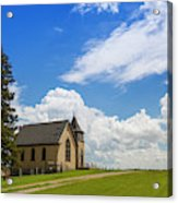 Church On A Hill In A Rural Setting Acrylic Print