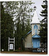 Church On Alaskan Highway Acrylic Print