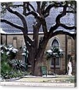 Church On Rosedale With A Dusting Of Snow Acrylic Print