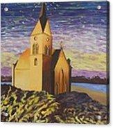 Church On The Rocks.  Acrylic Print