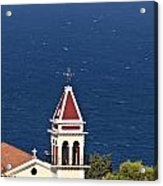 Church On The Top Of The Bohali Hill In Zakynthos Greece  Acrylic Print
