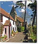 Church Path - Kenn - Somerset Acrylic Print