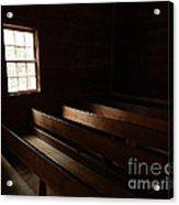 Church Pews Acrylic Print