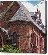 Church Red Door Acrylic Print