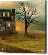 Church Ruin With Stormy Skies Acrylic Print