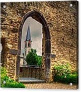 Church Ruins In Boppard Germany Acrylic Print