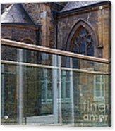 Church Seen Through A Transperant Screen  Acrylic Print