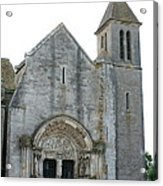 Church St Thibault- Burgundy Acrylic Print