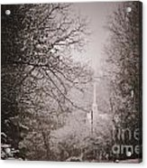 Church Steeple In The Snow Acrylic Print