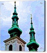 Church Steeples - Bratislava Acrylic Print