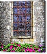 Church Window In Brittany Acrylic Print