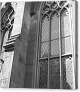 Church Windows And Subway Posts Acrylic Print