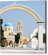 Churches Oia Santorini Greek Islands Acrylic Print