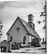 Churchyard Bw Acrylic Print