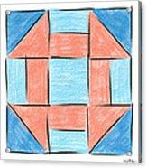 Churn Dash Block Acrylic Print