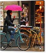Ciclista - Milano Acrylic Print