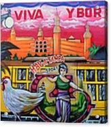 Cigar City Street Mural Acrylic Print