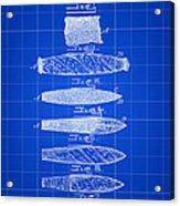Cigar Patent 1887 - Blue Acrylic Print