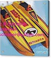 Cigarett Power Boat Illustration Acrylic Print