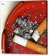Cigarette Butts Acrylic Print